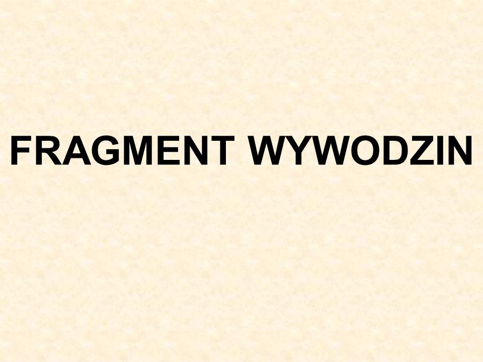 FRAGMENT WYWODZIN