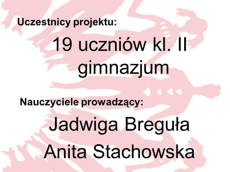 Uczestnicy projektu: 19 uczniów kl.