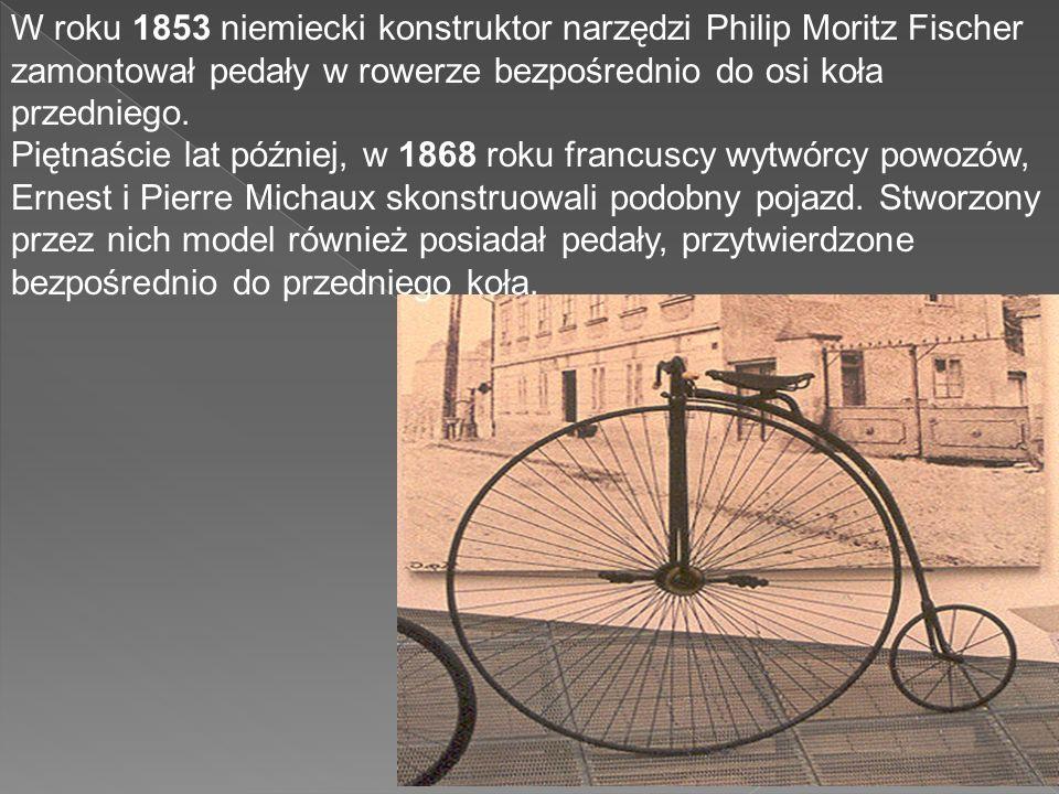 W roku 1791 Monsieur de Sivrac, arystokrata paryski skonstruował prototyp dzisiejszego roweru. Model został nazwany celeryferem, przez współczesnych p
