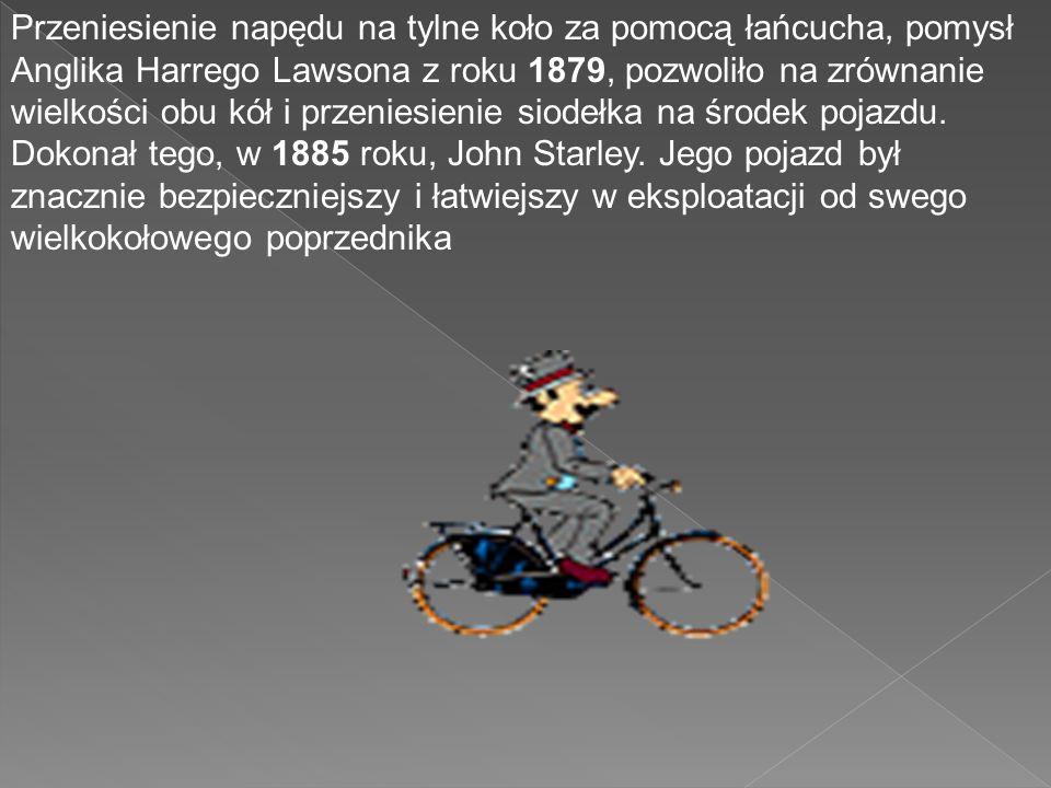 W roku 1853 niemiecki konstruktor narzędzi Philip Moritz Fischer zamontował pedały w rowerze bezpośrednio do osi koła przedniego. Piętnaście lat późni