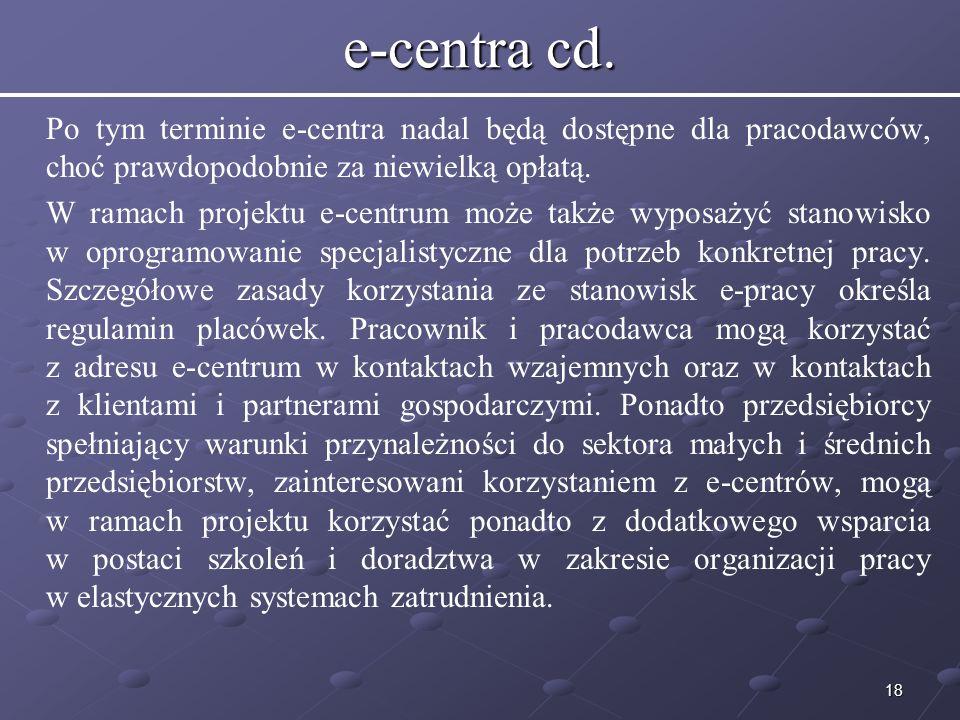 18 e-centra cd.