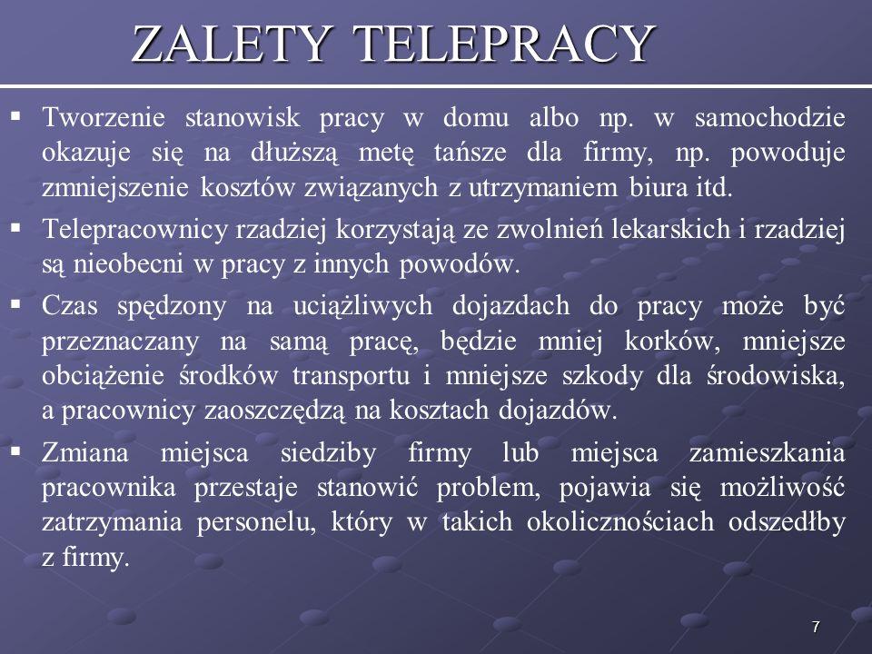 8 ZALETY TELEPRACY cd.