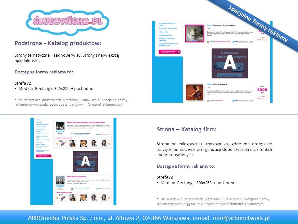 Strona - Panel użytkownika: Strona po zalogowaniu użytkownika, gdzie ma dostęp do narzędzi pomocnych w organizacji ślubu i wesela oraz funkcji społecznościowych.