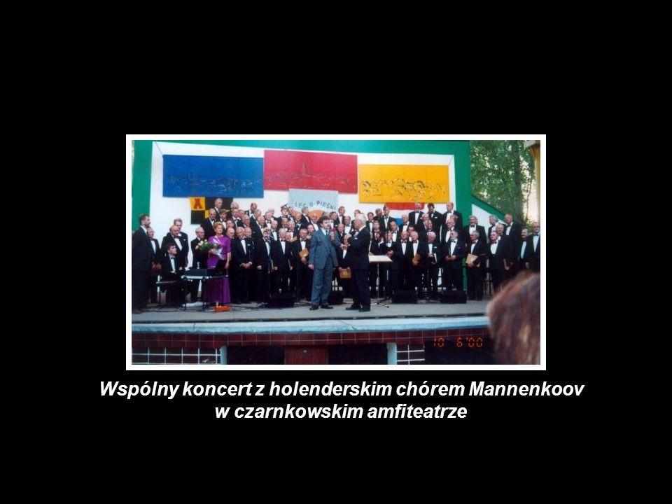 Wspólny koncert z holenderskim chórem Mannenkoov w czarnkowskim amfiteatrze