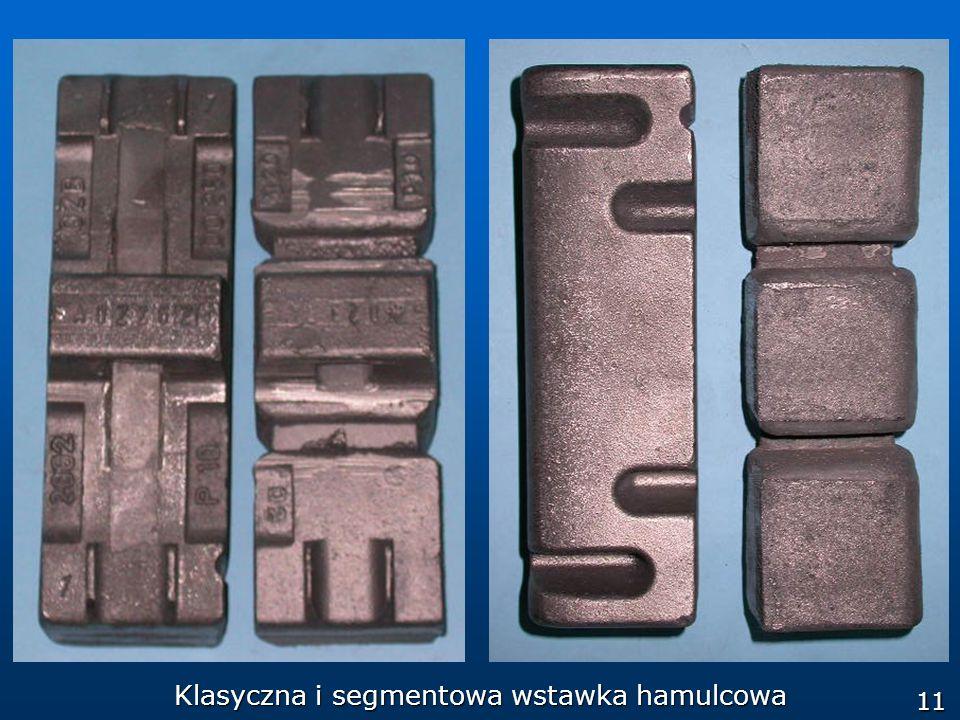 11 Klasyczna i segmentowa wstawka hamulcowa