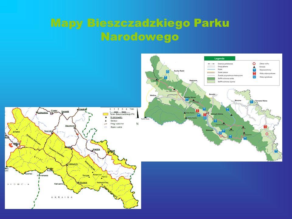 Mapy Bieszczadzkiego Parku Narodowego