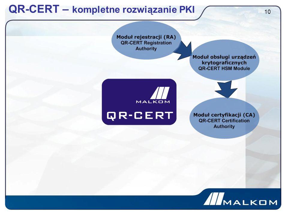 QR-CERT – kompletne rozwiązanie PKI 10