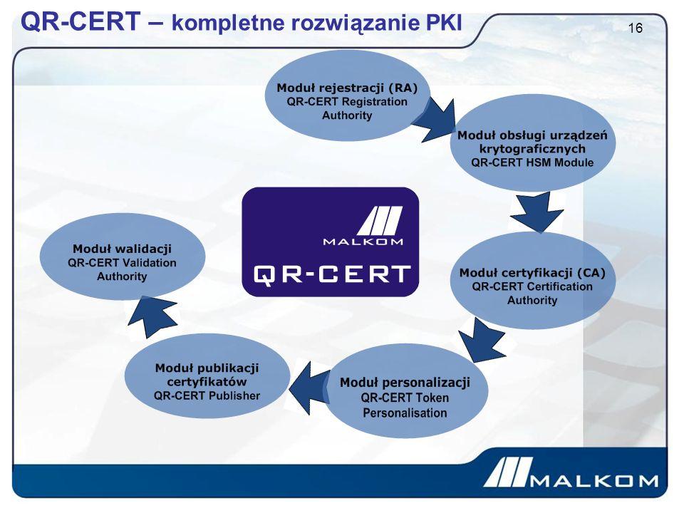 QR-CERT – kompletne rozwiązanie PKI 16