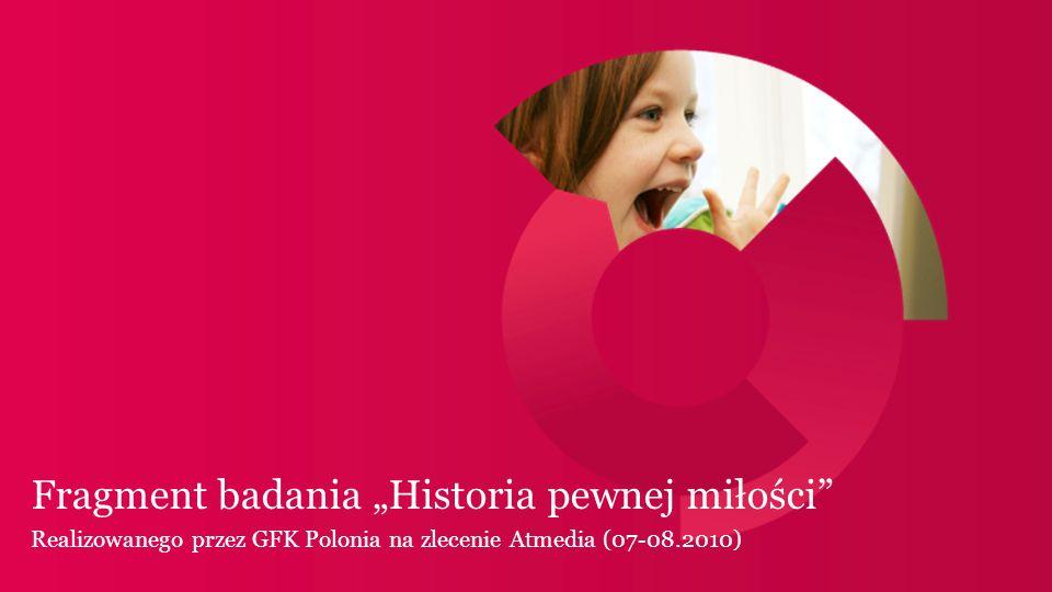 Fragment badania Historia pewnej miłości Realizowanego przez GFK Polonia na zlecenie Atmedia (07-08.2010)