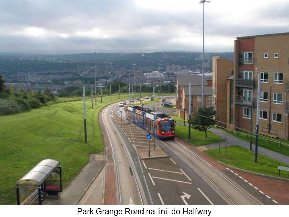 Park Grange Road na linii do Halfway