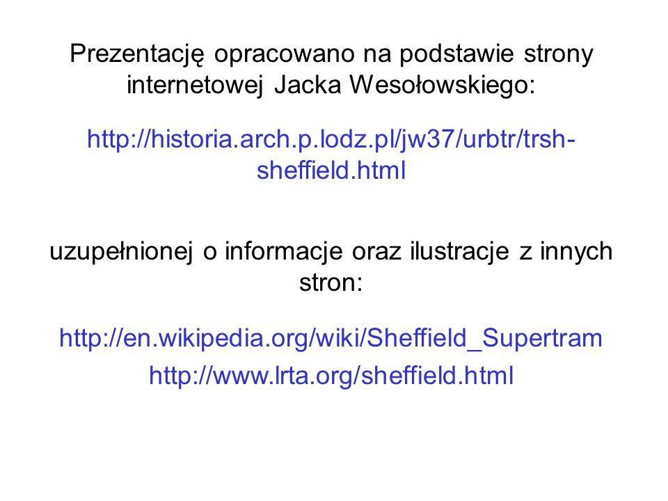 Prezentację opracowano na podstawie strony internetowej Jacka Wesołowskiego: http://historia.arch.p.lodz.pl/jw37/urbtr/trsh- sheffield.html uzupełnion