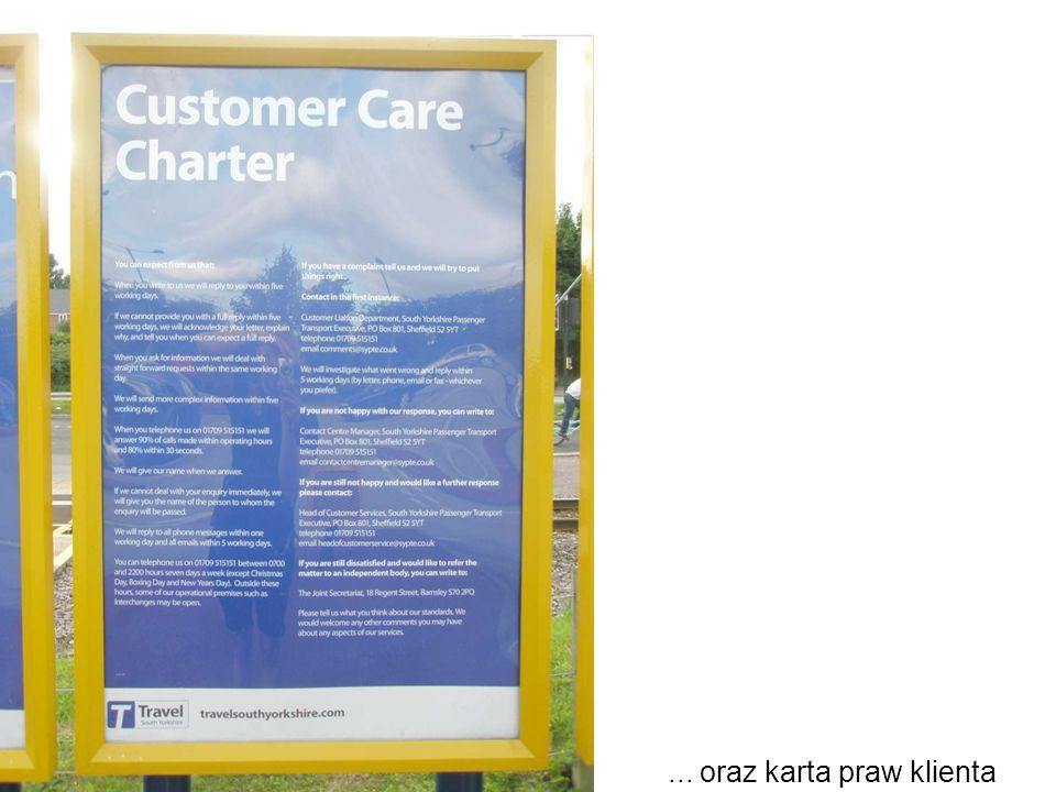 ... oraz karta praw klienta