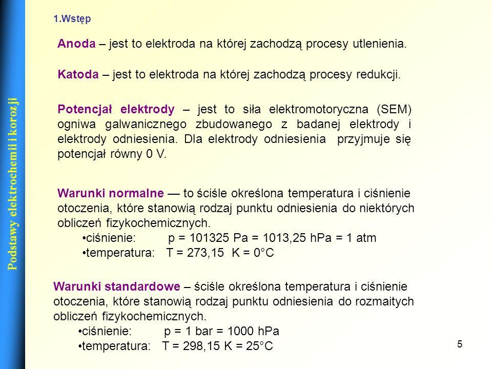16 Metody pomiaru siły elektromotorycznaj (SEM) (-) Zn | Zn 2+ ||Cu 2+ | Cu | Zn (+) SEM=E Cu 2+ /Cu -E Zn 2+ /Zn U=E Cu 2+ /Cu -E Zn 2+ /Zn U=I(R+R w ) USEM gdy I 0 Metody pomiaru SEM 1 Metoda bezprądowa 2 Metoda omomierza wysokooporowego Podstawy elektrochemii i korozji