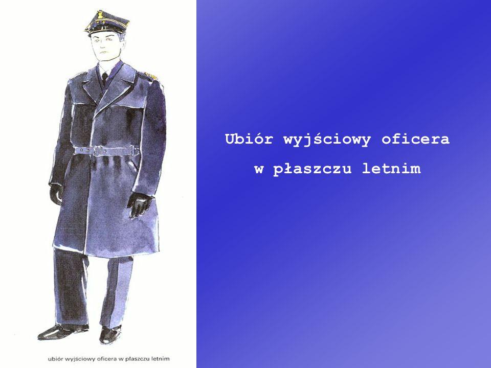 Ubiór wyjściowy oficera w płaszczu letnim