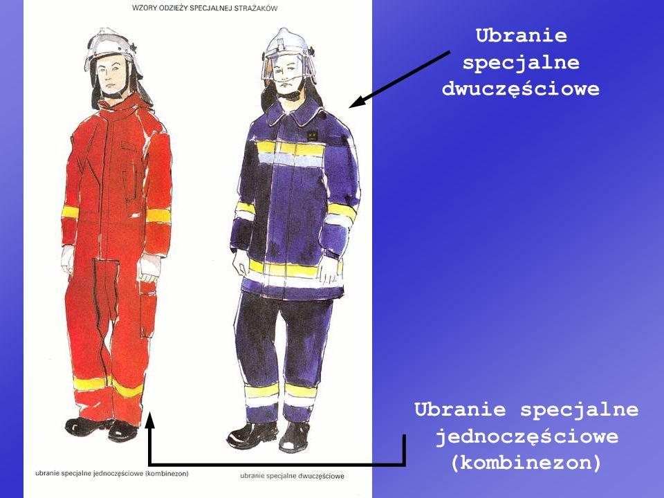 Ubranie specjalne jednoczęściowe (kombinezon) Ubranie specjalne dwuczęściowe