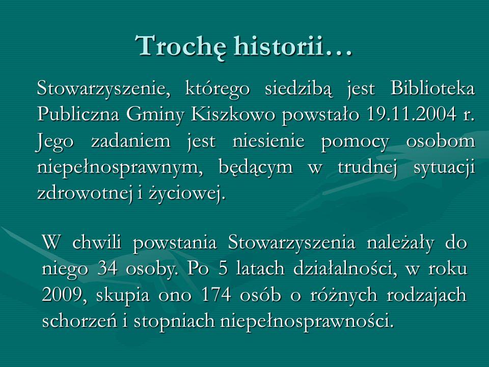Trochę historii… Stowarzyszenie, którego siedzibą jest Biblioteka Publiczna Gminy Kiszkowo powstało 19.11.2004 r.