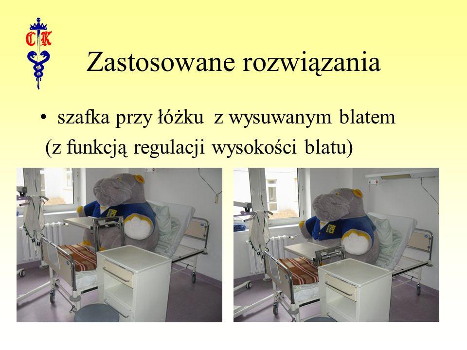 Zastosowane rozwiązania szafka przy łóżku z wysuwanym blatem (z funkcją regulacji wysokości blatu)