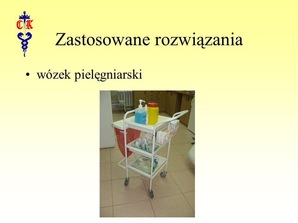 Zastosowane rozwiązania wózek pielęgniarski