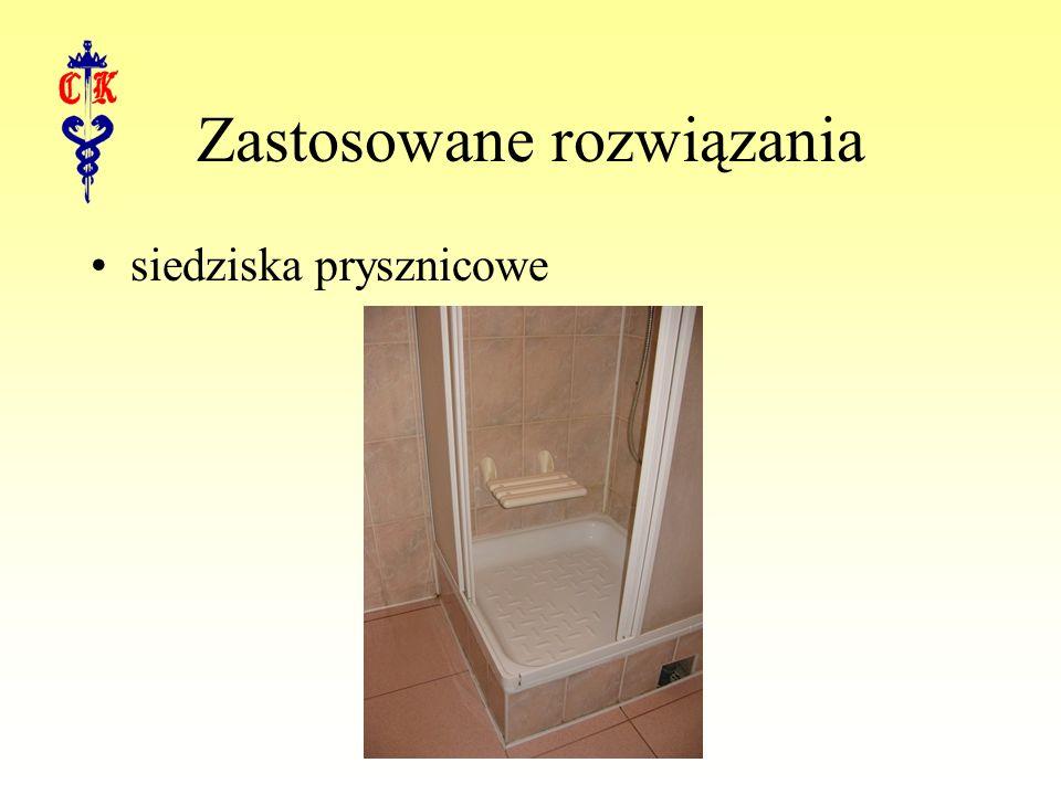 Zastosowane rozwiązania siedziska prysznicowe