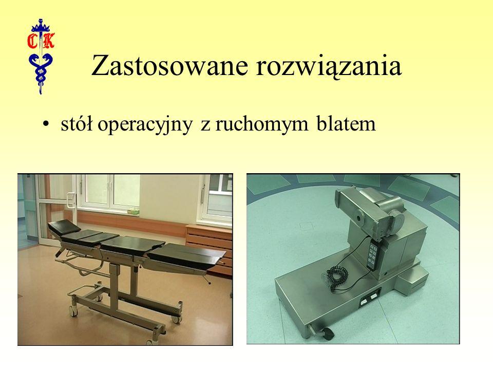Zastosowane rozwiązania stół operacyjny z ruchomym blatem