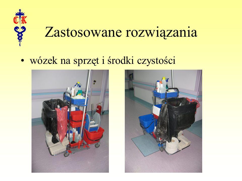 Zastosowane rozwiązania wózek na sprzęt i środki czystości