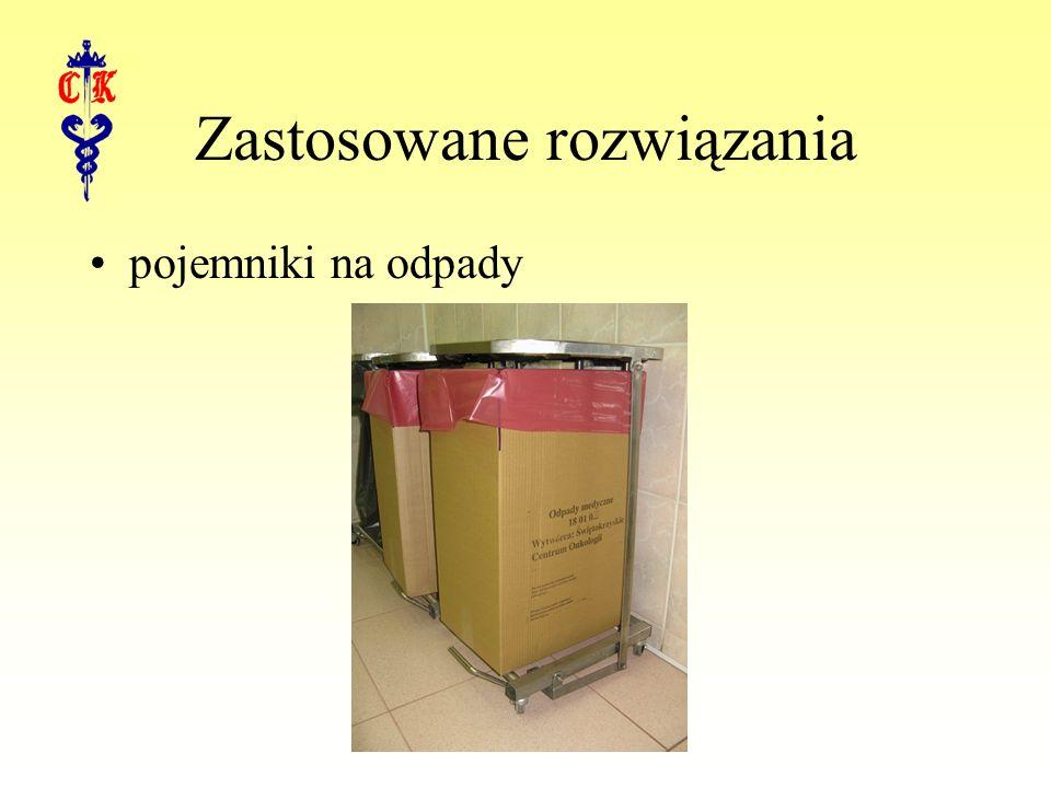 Zastosowane rozwiązania pojemniki na odpady