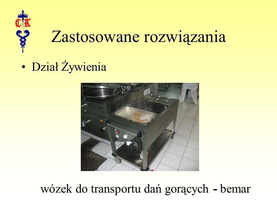 Zastosowane rozwiązania Dział Żywienia wózek do transportu dań gorących - bemar