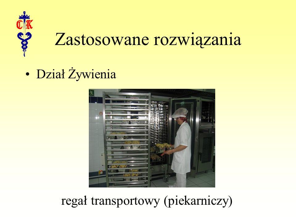 Zastosowane rozwiązania Dział Żywienia regał transportowy (piekarniczy)