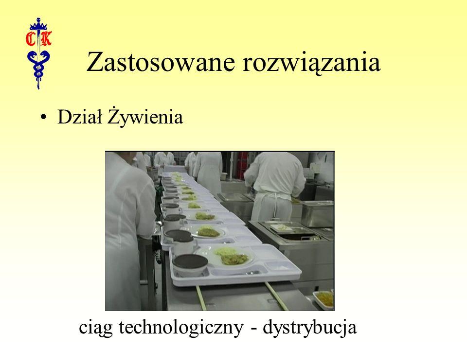 Zastosowane rozwiązania Dział Żywienia ciąg technologiczny - dystrybucja