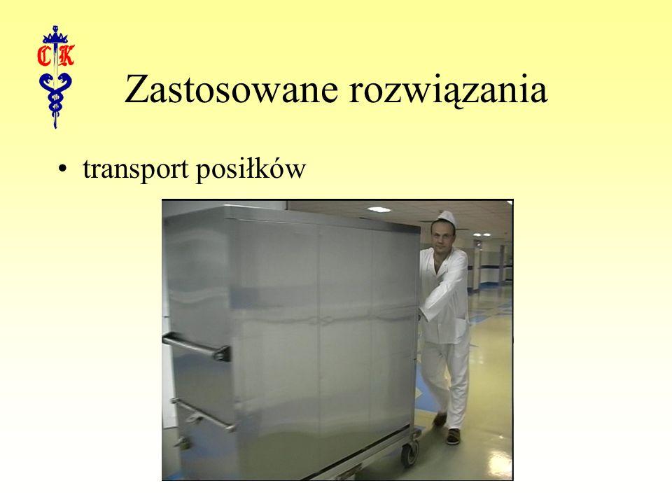 Zastosowane rozwiązania transport posiłków