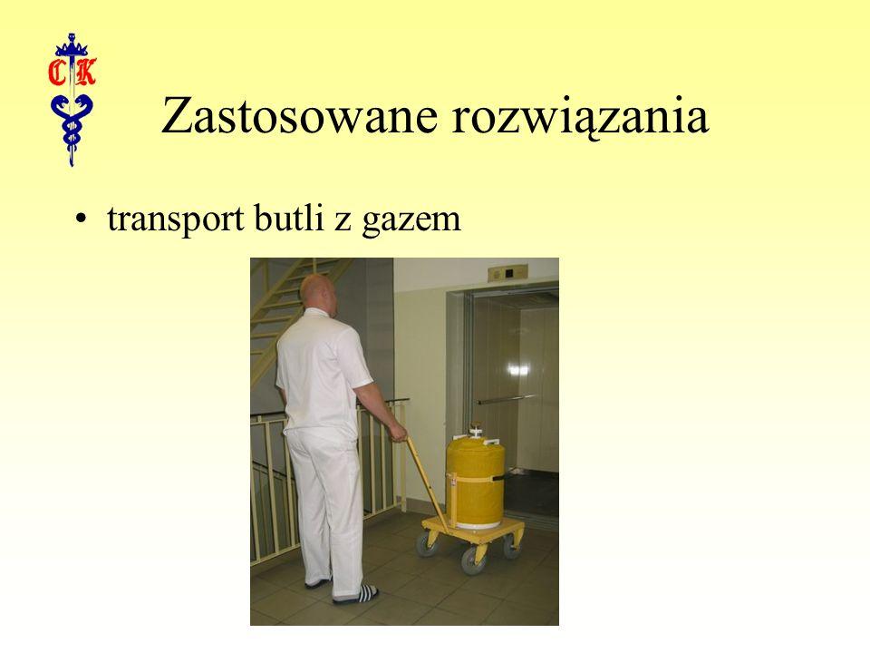 Zastosowane rozwiązania transport butli z gazem
