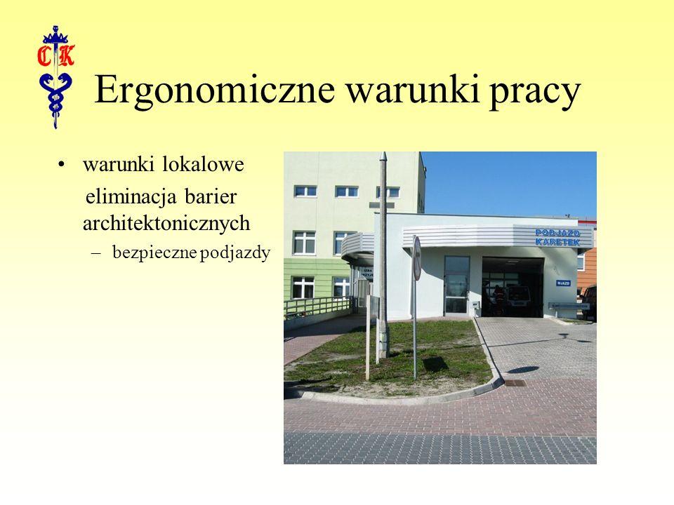 Ergonomiczne warunki pracy warunki lokalowe eliminacja barier architektonicznych –bezpieczne podjazdy