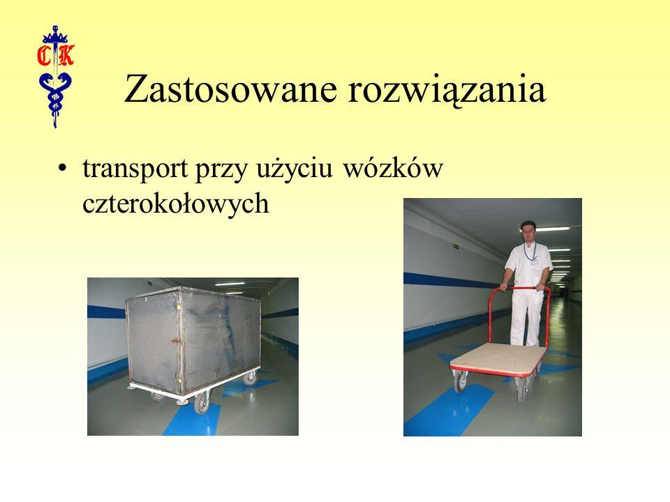 Zastosowane rozwiązania transport przy użyciu wózków czterokołowych