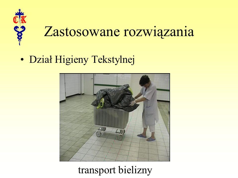 Zastosowane rozwiązania Dział Higieny Tekstylnej transport bielizny