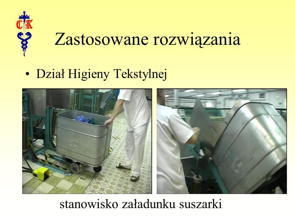 Zastosowane rozwiązania Dział Higieny Tekstylnej stanowisko załadunku suszarki