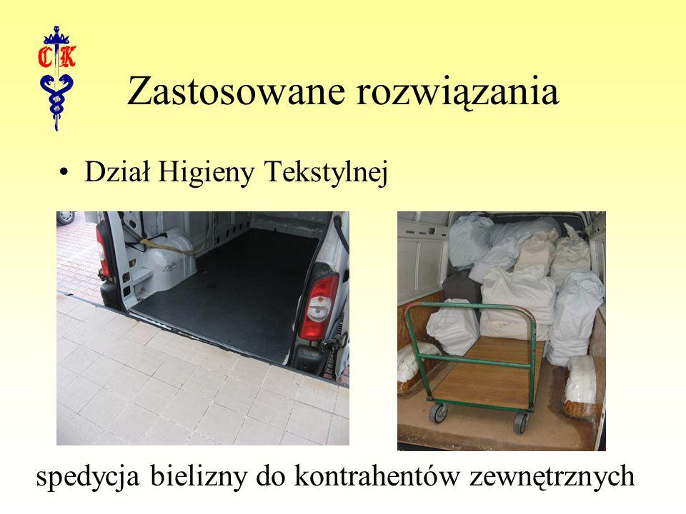 Zastosowane rozwiązania Dział Higieny Tekstylnej spedycja bielizny do kontrahentów zewnętrznych