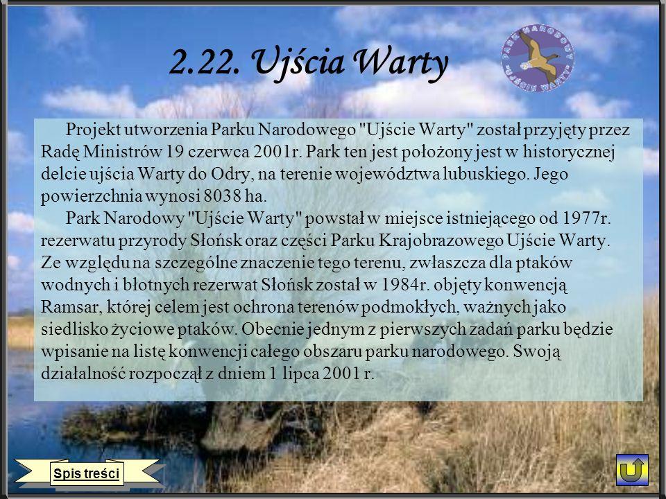 2.22. Ujścia Warty Projekt utworzenia Parku Narodowego