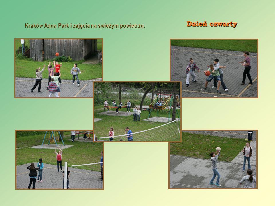 Kraków Aqua Park i zajęcia na świeżym powietrzu. Dzień czwarty