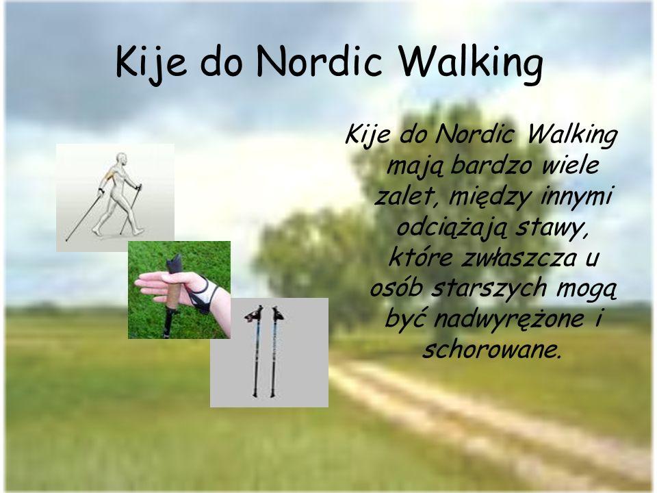 Kije do Nordic Walking Kije do Nordic Walking mają bardzo wiele zalet, między innymi odciążają stawy, które zwłaszcza u osób starszych mogą być nadwyr