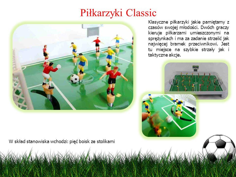 Piłkarzyki Classic Klasyczne piłkarzyki jakie pamiętamy z czasów swojej młodości. Dwóch graczy kieruje piłkarzami umieszczonymi na sprężynkach i ma za