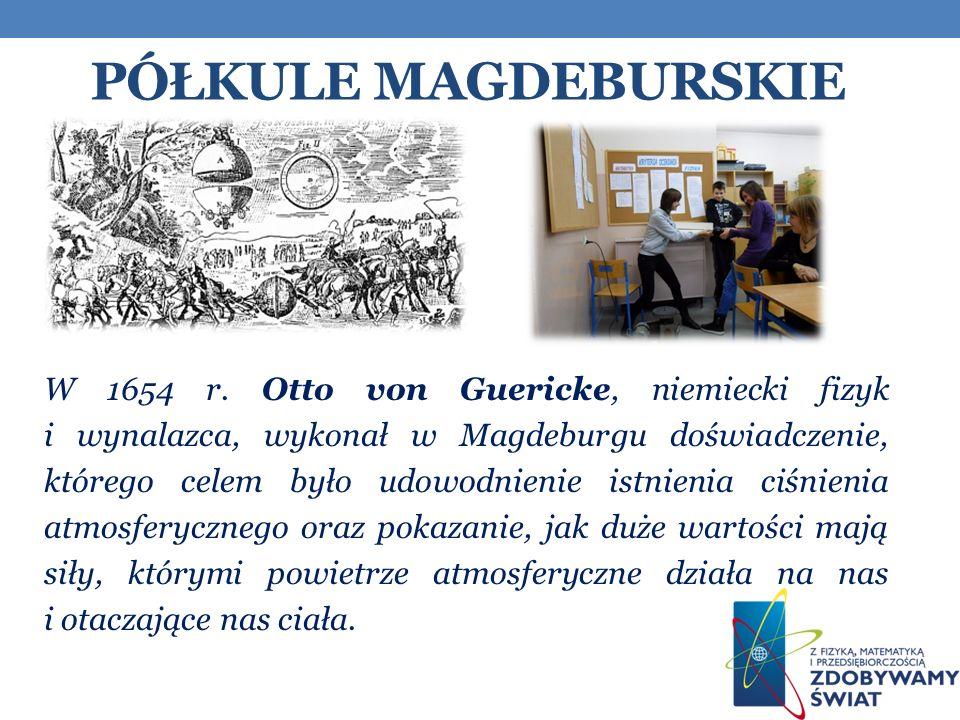 PÓŁKULE MAGDEBURSKIE W 1654 r.
