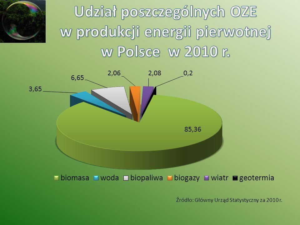 Źródło: Główny Urząd Statystyczny za 2010 r.