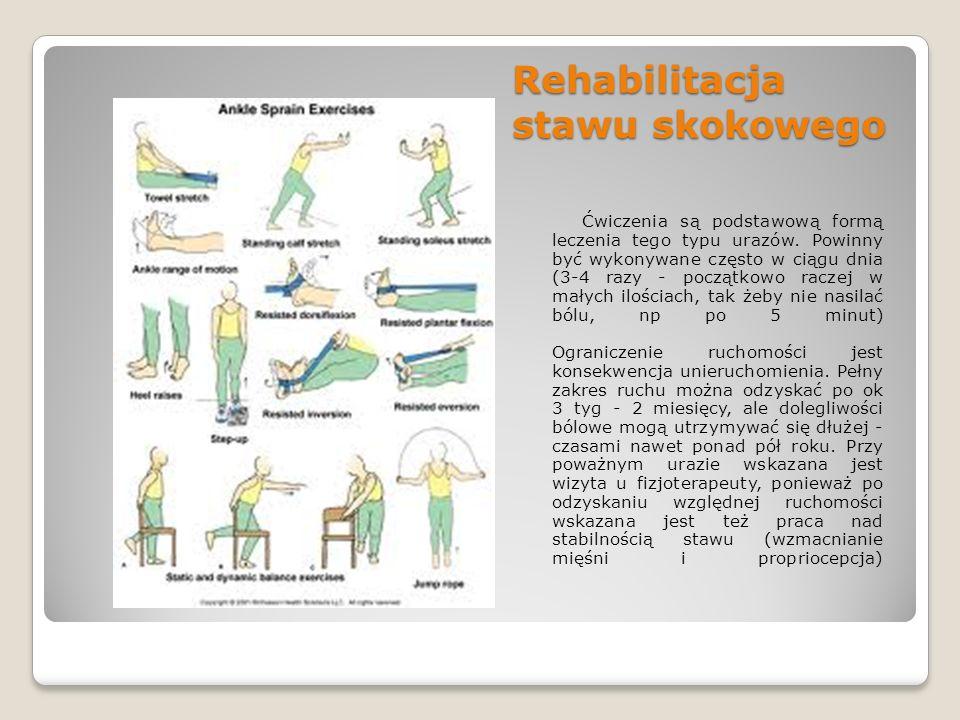 Skręcenie stawu kolanowego Skręcenie stawu kolanowego Objawy: - ostry ból w okolicach stawu - obrzęk (opuchlizna) - niestabilność stawu Postępowanie: Przyłożyć lód do kontuzjowanego stawu kolanowego, w pozycji odciążającej bolący staw przetransportować poszkodowanego do szpitala w celu wykonania badań (RTG, USG) oraz zdiagnozowania stopnia uszkodzenia stawu.