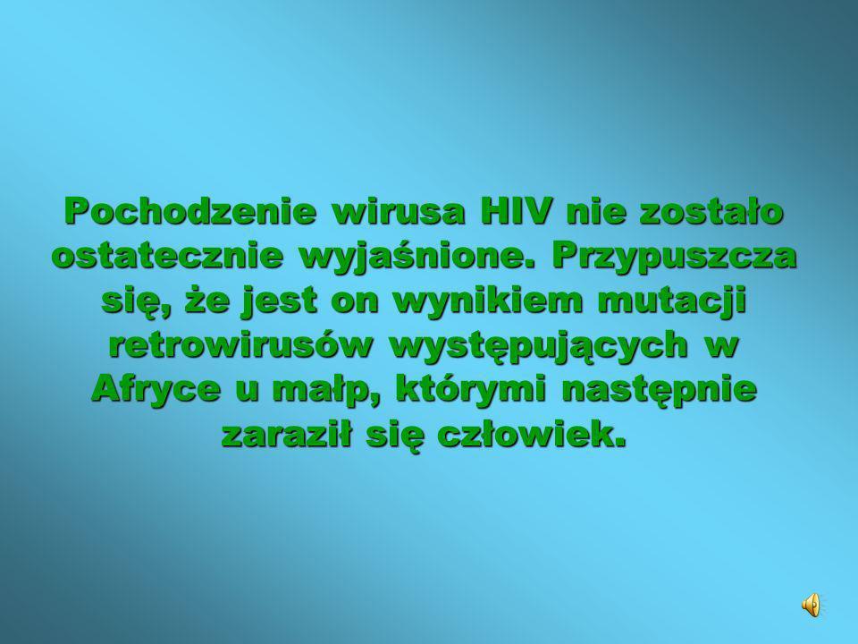 Pochodzenie wirusa HIV nie zostało ostatecznie wyjaśnione. Przypuszcza się, że jest on wynikiem mutacji retrowirusów występujących w Afryce u małp, kt