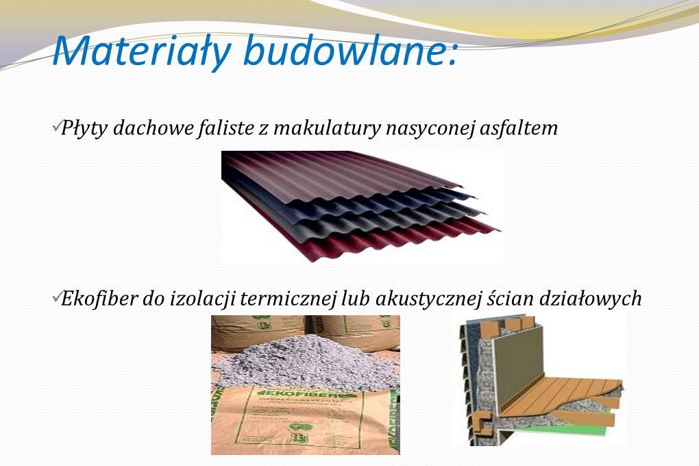 Ciekawostki...każde 100 kg papieru to średniej wielkości dwa drzewa...jedno drzewo produkuje w ciagu roku tlen wystarczający dla 10 osób...każda tona makulatury pozwala zaoszczędzić 1200 litrów wody w papierni oraz 2,5 m3 przestrzeni środowiska....pod względem ilości, makulatura jest najważniejszym surowcem dla europejskiego przemysłu papierniczego