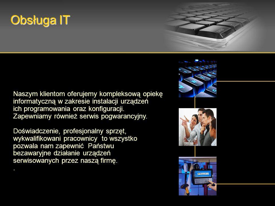 Naszym klientom oferujemy kompleksową opiekę informatyczną w zakresie instalacji urządzeń ich programowania oraz konfiguracji. Zapewniamy również serw