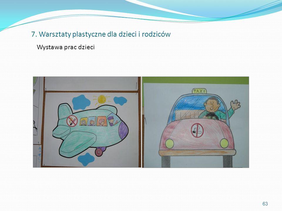 63 7. Warsztaty plastyczne dla dzieci i rodziców Wystawa prac dzieci