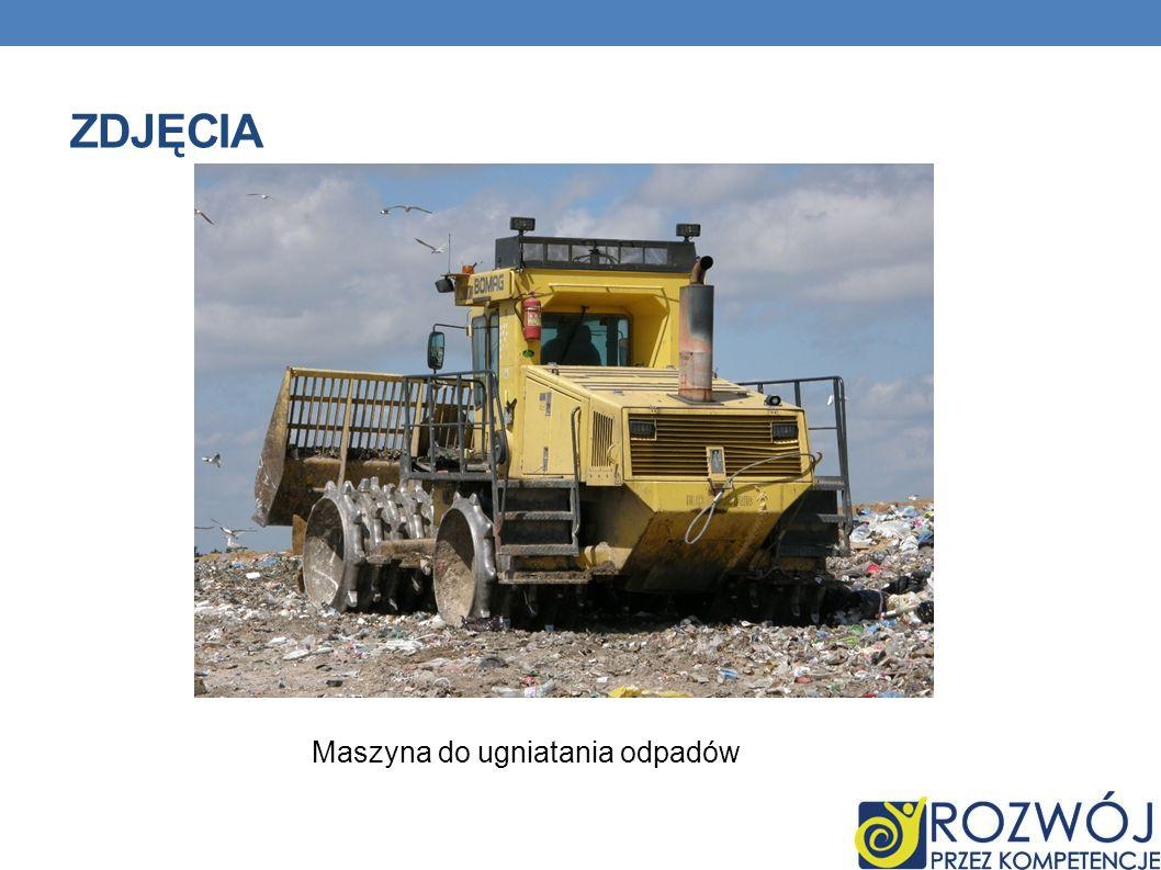 ZDJĘCIA Maszyna do ugniatania odpadów