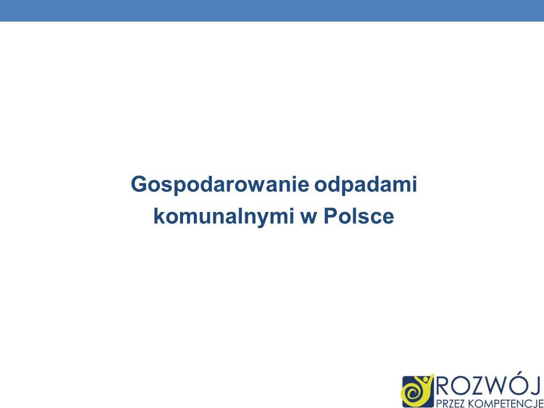 Gospodarowanie odpadami komunalnymi w Polsce
