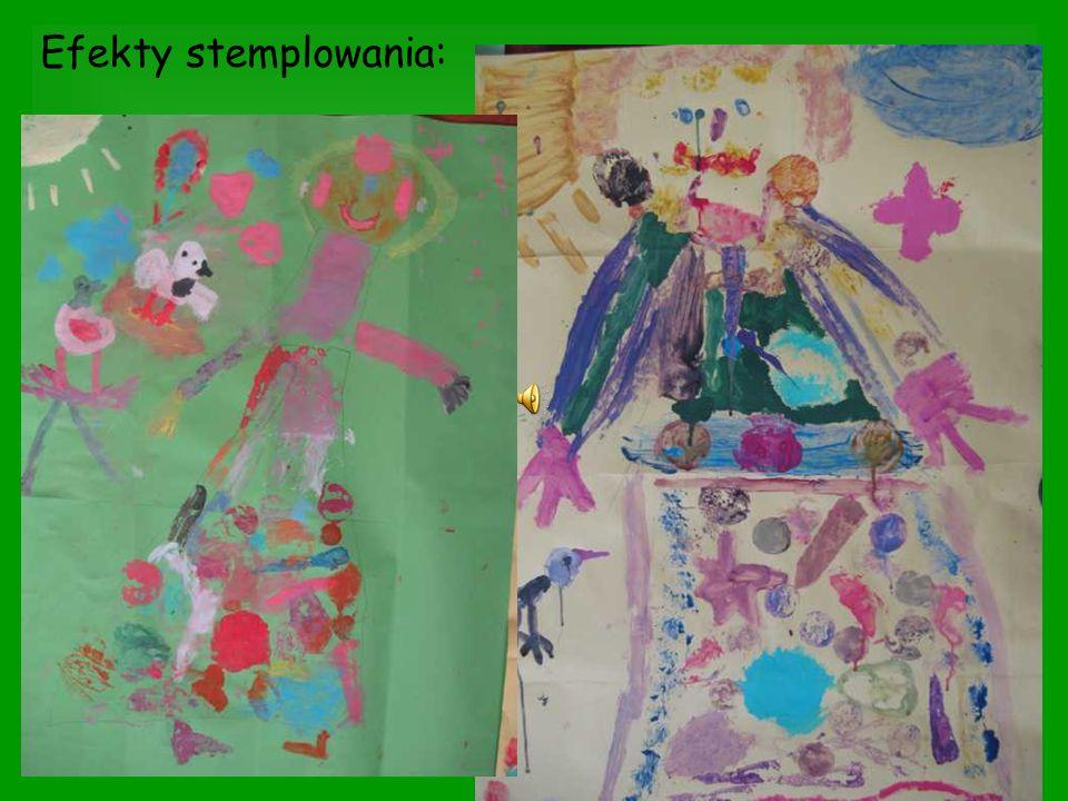 Do wykonania kolażu wykorzystano bibułkę, kolorowe papiery, tkaniny oraz włóczkę.